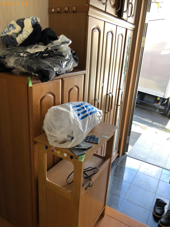 【甲府市】スタンドミラー、タンス、食器棚、カラーボックス等の回収