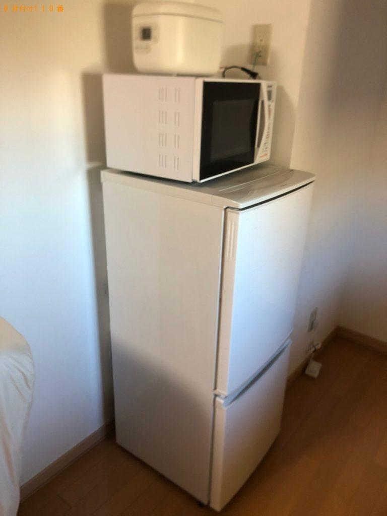 【鳴沢村】冷蔵庫、洗濯機、シングルベッド、ベッドマットレスの回収