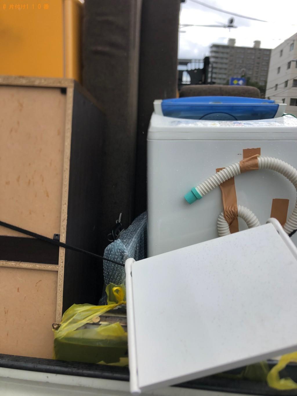 【甲州市】洗濯機、二人掛けソファー、レンジ台の回収・処分ご依頼