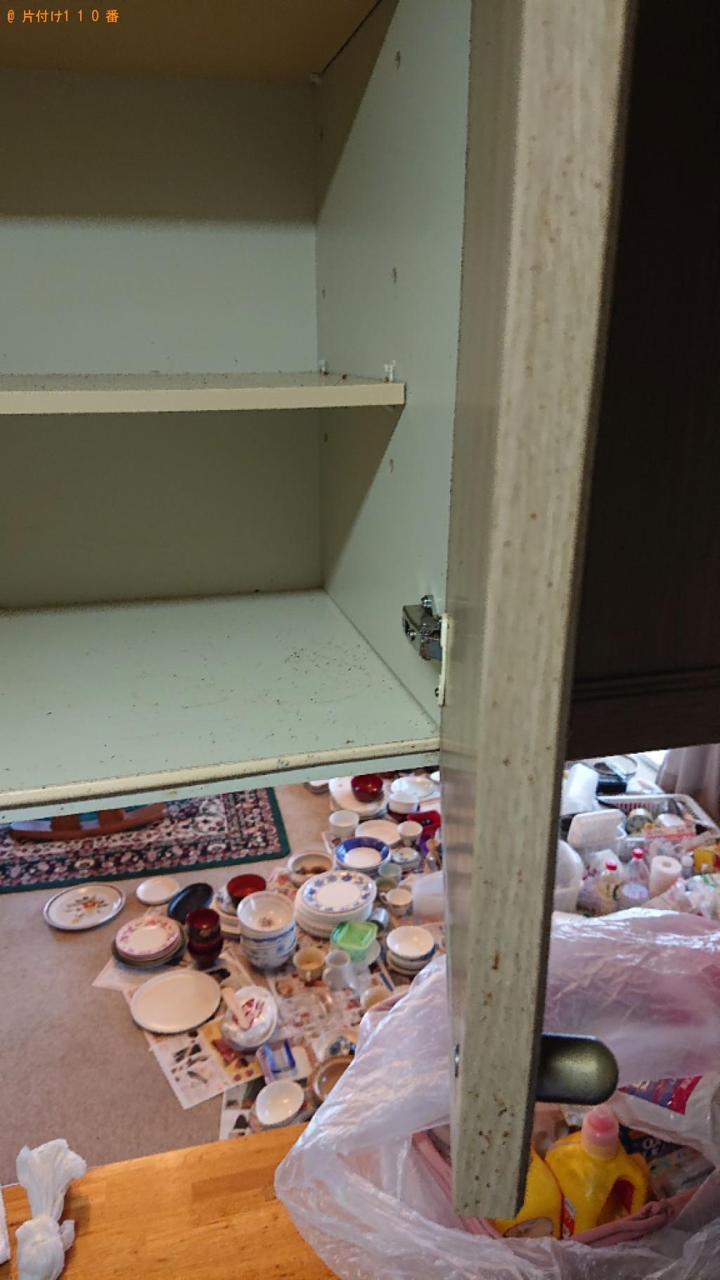 【甲府市】キャビネットの清掃と皿等の回収・処分ご依頼 お客様の声